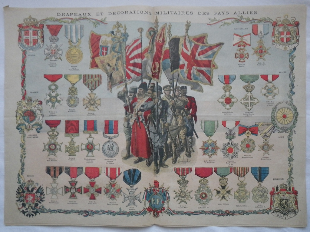 Europeana 1914 1918 39 le petit journal 39 allied medals colour plate - Sticker le petit journal ...