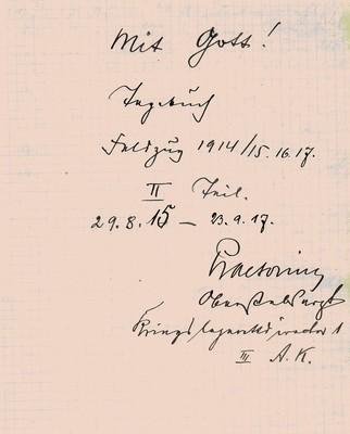 Kriegstagebuch 1915-17