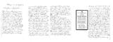 Brief mit Sterbebild (Josef Gürster)