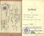 Soldbuch von Oberstabsarzt Max Westenhöfer