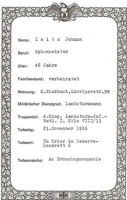 Johann Zeitz Urkunde v. Stadt M.Gladbach 1 Weltkrieg.jpg