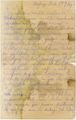 Letter of the National Guard soldier of the 8th company of the Reserve Infantry Battalion of the Russian Army Andrejs Krampe to  his mother in Valmiera