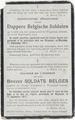 gedenkprentje Belgische soldaten