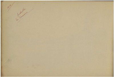 Carnet de croquis de G. E. Pellus pendant la guerre