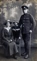 A soldier's family photographed in Derby