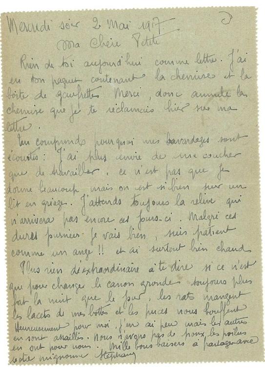 europeana 1914 1918 fram lettres du soldat st phane barre sa femme louise 1914 1919. Black Bedroom Furniture Sets. Home Design Ideas