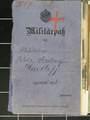 Fotos und Militärpass von Adolf Diederich Hartleff