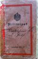 Militärpass von Karl Graf, geb. 28.05.1889