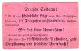 Aufforderung zum desertieren an deutsche Soldaten