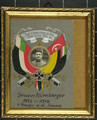 Erinnerungsbild und Zigarettenschachtel von Johann Nürnberger