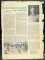 Zeitungsartikel und Trauerrede für Johann Faltermeier