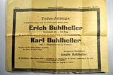 Feldpost und Todesnachricht von Erich Buhlheller