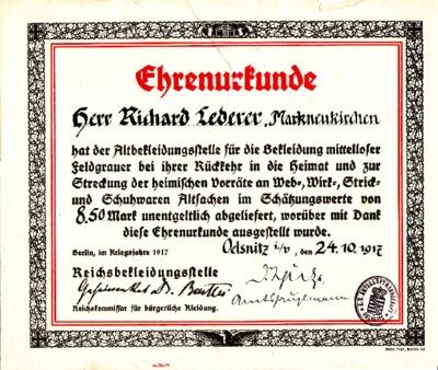 Urkunde Bekleidungsstelle 1917.pdf