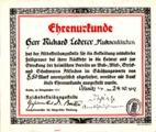 Ehrenurkunde der Reichsbekleidungsstelle 1917