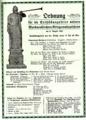 Enthüllungsfeier Markneukirchner Kriegswahrzeichen 1916