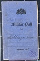 Militärpass und Verleihungsurkunden von Xaver Lichtinger
