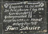 Kriegsandenken an Franz Schuier