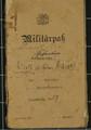 Militärpass von Rudolf Wilhelm Hauck