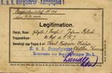 Bestätigung den Karl-Truppenkreuz-Orden tragen zu dürfen für Johann Fitsch