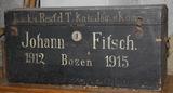 Ausrüstungsgegenstände von Johann Fitsch