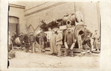 German soldiers at the railroad works KORTRIJK (Belgium)