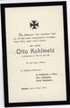 Todesanzeige für Otto Kohlmetz