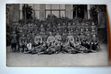 Gruppenfoto: Soldaten der Kurfürstlich Sächsischen Armee in Leipzig im Herbst 1914