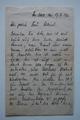 Feldpostbrief eines deutschen Kompanieführers mit der Schilderung der Todesumstände von Oswin Arthur Ellrich und der militärischen Lage in Douaumont Ende Februar 1916