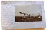 Abgeschossenes Flugzeug