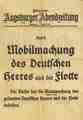 Mobilmachung 1. Aug. 1914