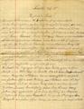 Brief von Georg Klotz an seine Frau und Familie