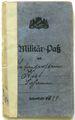 Militärpass des Johann Kist