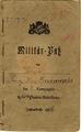 Militärpass des Franz Xaver Grünwald