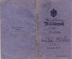 Soldbuch von Paul Müller