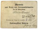 Ausweis für Lebensmittelmarken Hans Stadlbauer