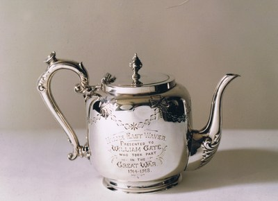 My Grandfather, William Gate's, silver teapot