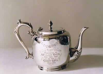 My Grandfather, William Gate's, silver teapot