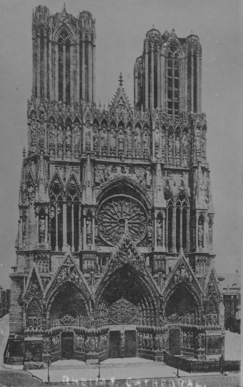 Reims Cathedral Ww1 of Reims Cathedral France