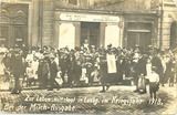 Carte postale du débit municipal de lait de Luxembourg, Alice et Joséphine Strock, 1918