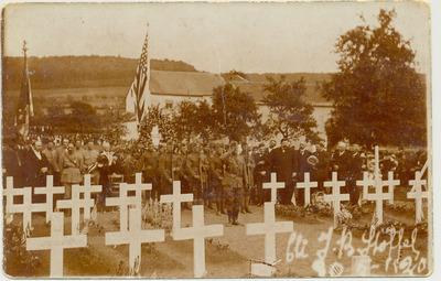 Carte postale du cimetière militaire américain de Walferdange