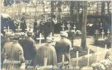 Carte postale du cimetière militaire allemand à Clausen, Toussaint 1917