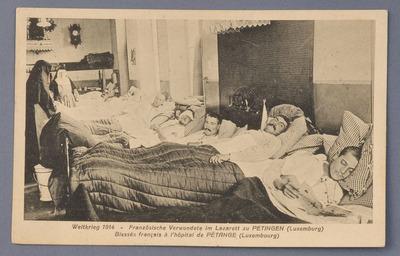 Soldats français dans l'hôpital de Pétange, Luxembourg