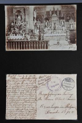 Carte postale à Albert Pansin, prisonnier de guerre luxembourgeois à Holzminden (1914-1917)