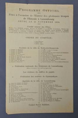 Entrée des troupes de l'Entente à Luxembourg