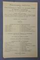 Programme officiel de l'entrée des troupes de l'Entente à Luxembourg le 21 novembre 1918