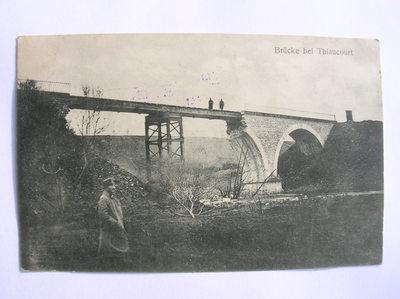 """Fotopostkarte """"Brücke bei Thiaucourt"""""""