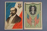 Cartes postales montrant les présidents W. Wilson et R. Poincaré