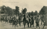 Cartes postales concernant le transport des soldats français et anglais faits prisonniers