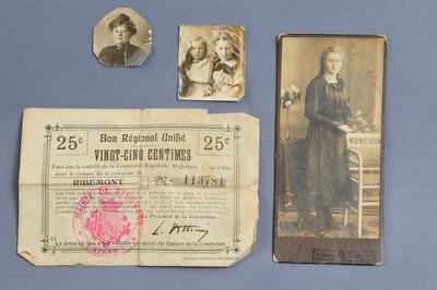 Inhalt der Brieftasche des gefallenen Georges Baldauf