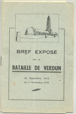 Livret sur l'histoire de la bataille de Verdun